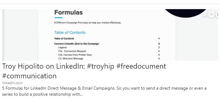Troy Hipolito LinkedIn Free Document