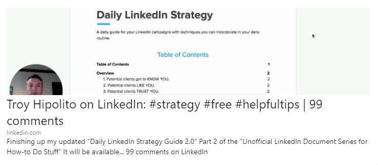 Troy Hipolito LinkedIn Helpful Tips