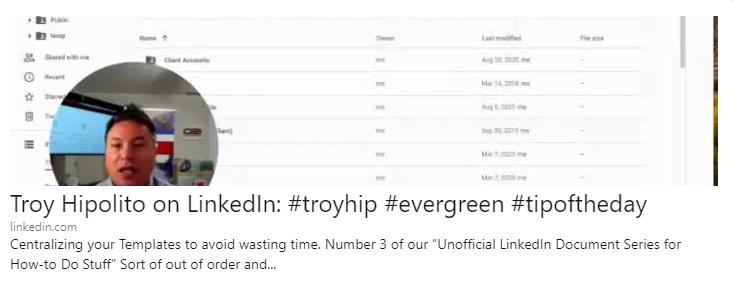 Troy Hipolito LinkedIn Helpful Evergreen Tips